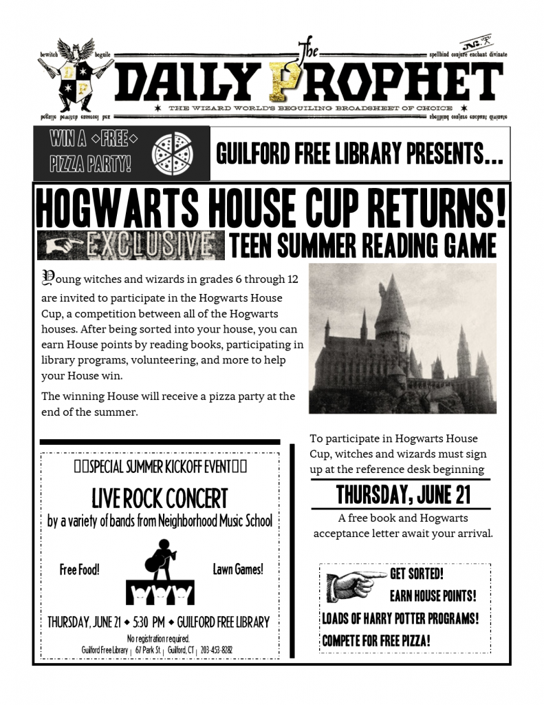 Hogwarts Summer Reading 2018 Flyer