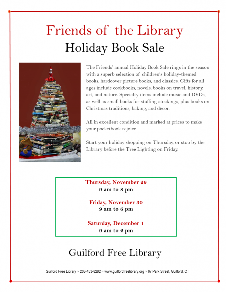 Friends Holiday Book Sale Flyer 2018_final