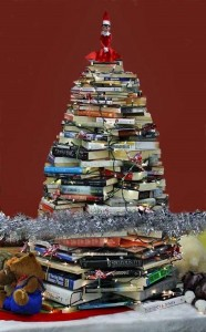 2019 Holiday Book and Bake Sale_book tree pic