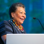 The Poetry Foundation, an independent literary organization and the publisher of Poetry magazine, recognizes Marilyn Nelson, Naomi Shihab Nye and Terrance Hayes at the annual Pegasus Awards at their building Monday June 10, 2019 in Chicago.(Peter Wynn Thompson/AP Images for Poetry Foundation)