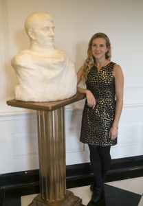 Mallory Mortillaro, curator of collections for the Hartley Dodge Foundation, is a Drew University graduate who identified and tracked down the provenance for Auguste Rodin's 1910 marble sculpture Napoleon Enveloppe Dans Son Reve. The piece has been displayed in the Hartley Dodge Memorial for 75 years, but the sculptor was never identified.